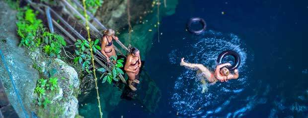 Ideal Mexican destination to start a spectacular Yucatan trip Valladolid cenote
